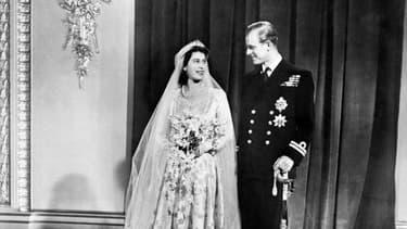 Le Mariage d' Elisabeth II et du Duc d'Edimbourg en 1947