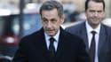Nicolas Sarkozy le 29 novembre 2014 au siège de l'UMP à Paris.