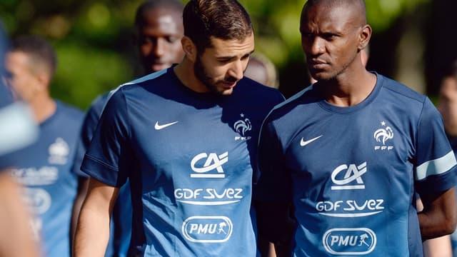 Karim Benzema et Eric Abidal
