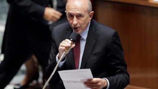 Le ministre de l'Intérieur Gérard Collomb, lors d'une séance de questions au gouvernement à l'Assemblée, le 25 octobre 2017