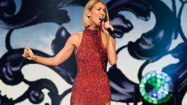 Céline Dion sur la scène du Videotron Centre à Québec le 18 septembre 2019.
