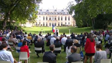 Les 150 citoyens de la Convention citoyenne pour le climat à l'Elysée le 20 juin 2020.