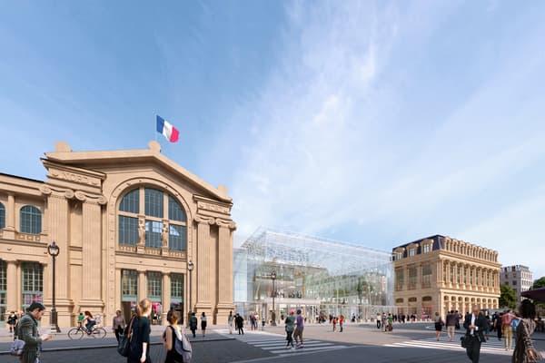 La future façade de la gare du Nord.
