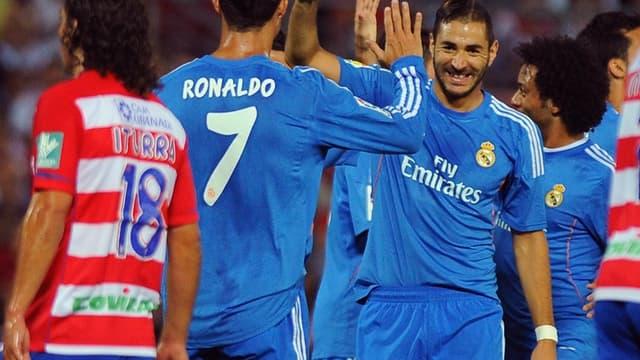 Karim Benzema avec Cristiano Ronaldo