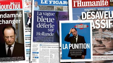 La défaite de la gauche aux municipales est d'abord une défaite pour François Hollande.