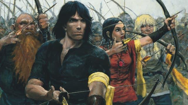 Détail de la couverture des Archers, une aventure de Thorgal