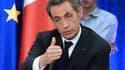 Nicolas Sarkozy en meeting à Toulouse le 8 octobre.