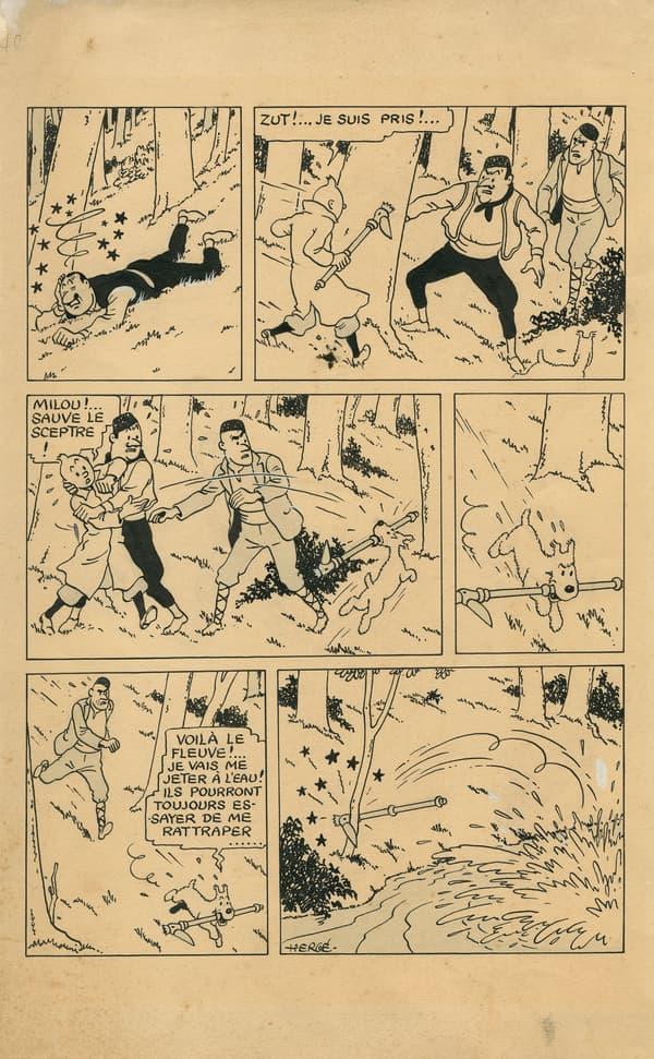Le Sceptre d'Ottokar de Hergé - Tintin