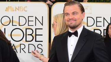 Leonardo DiCaprio sur le tapis rouge des Golden Globes 2014
