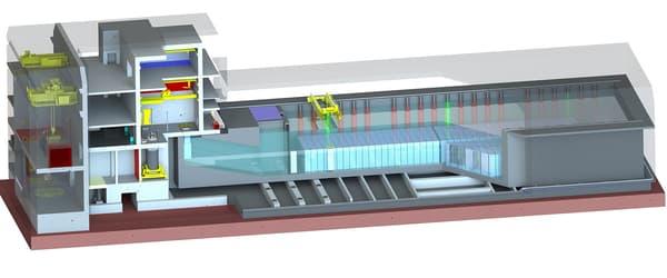 L'installation envisagée par EDF est une piscine constituée de deux bassins d'entreposage, de capacité et de conception identique, dont la mise en service serait échelonnée dans le temps.