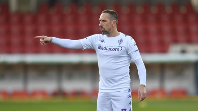 Franck Ribéry sous le maillot de la Fiorentina en janvier 2021
