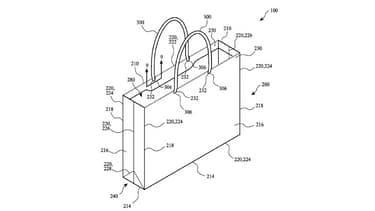 Le schéma du brevet de sac déposé par Apple.