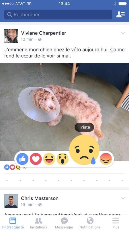 On va maintenant pouvoir témoigner de sa tristesse sur Facebook.