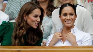 Kate Middleton et Meghan Markle à la finale féminine du tournoi de Wimbledon 2019