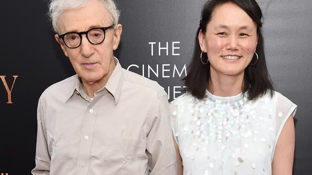 Woody Allen et son épouse Soon-Yi Prévin, à l'avant-première de Cafe Society à New York, le 13 juillet 2016.