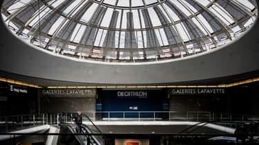 Le centre commercial de la Part-Dieu durant la crise sanitaire.