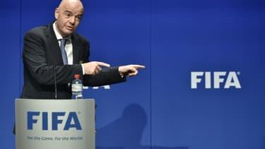 Le président de la FIFA, Gianni Infantino, lors d'un point presse, le 10 janvier 2017 au siège de l'association à Zurich