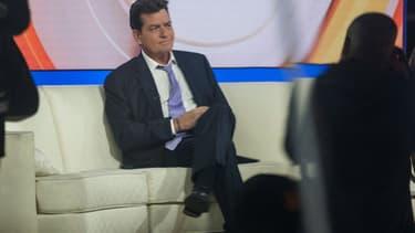 Charlie Sheen sur le plateau du Today Show en novembre 2015