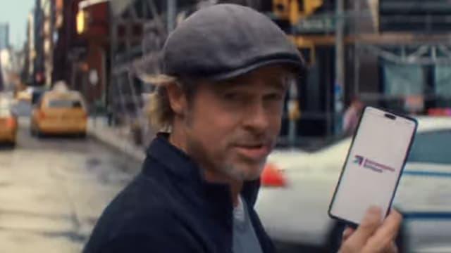 Brad Pitt dans la pub Boursorama