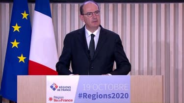 Jean Castex devant les présidents des conseils régionaux.