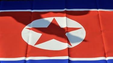 Drapeau de la Corée du Nord (illustration).