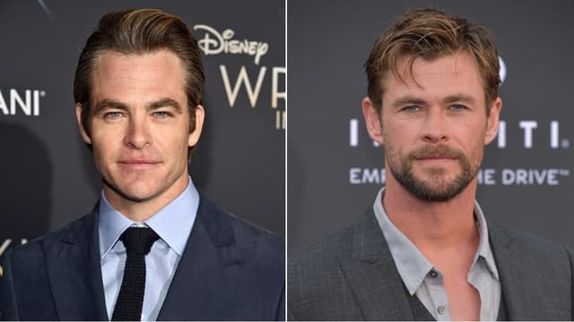 Chris Pine et Chris Hemsworth
