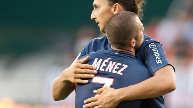 Zlatan Ibrahimovic et Jérémy Ménez