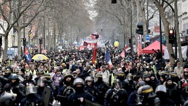 La manifestation à Paris, le 11 janvier 2020