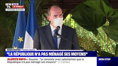 """Jean Castex qualifie la Guyane d'""""île"""" lors de son déplacement à Cayenne ce dimanche"""