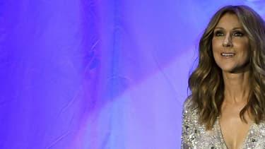 Céline Dion sur la scène du Colosseum à Las Vegas