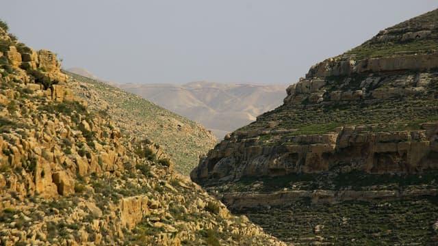 Le désert de Judée, en Israël.
