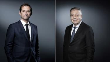 Bertrand Camus, directeur général de Suez et Antoinre Frérot, président directeur général de Veolia.