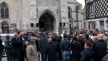 Les obsèques de Gérald Babin, le 5 avril 2013 à Nemours, en Seine-et-Marne.