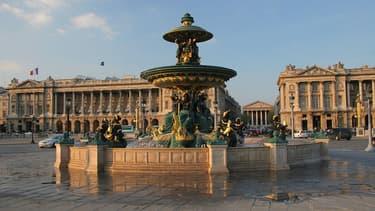 L'Hôtel Crillon, sur la place de la Concorde à Paris.