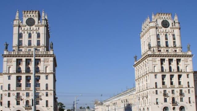 Minsk, la capitale de la Biélorussie.
