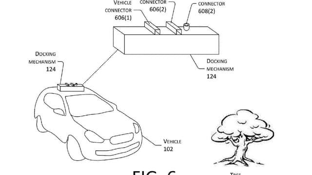 Amazon veut recharger les véhicules  électriques via des drones.