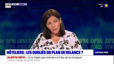 """Anne Hidalgo (PS): """"Le plan de relance de 5 millions d'euros a vocation à faire revenir les touristes"""""""