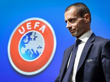 Le président de l'UEFA Aleksander Ceferin au siège de la confédération européenne à Nyon le 4 décembre 2019