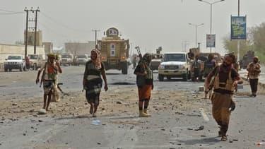 Les forces pro-gouvernementales à Hodeida.