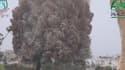Une vidéo postée des rebelles syriens montre une forte explosion dans la province d'Idleb.