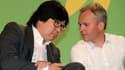 Jean-Vincent Placé et François de Rugy lors des journées d'été d'Europe Ecologie - Les Verts. Les deux parlementaires ont coorganisé le rendez-vous de samedi.