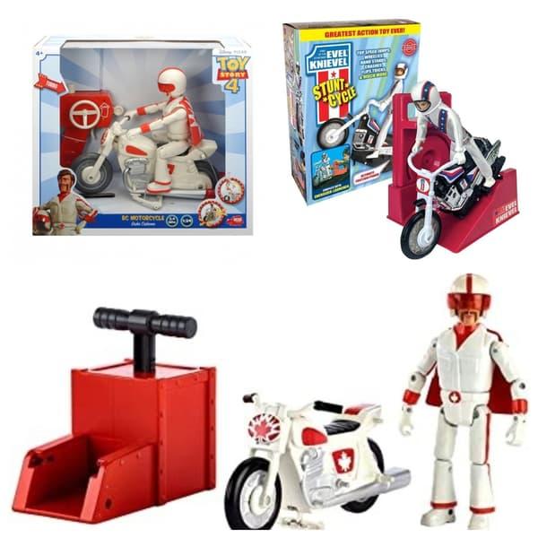 Des jouets à l'effigie de Duke Caboom, et d'Evel Knievel