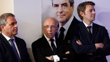 Xavier Bertrand, Eric Ciotti et François Baroin en 2017.