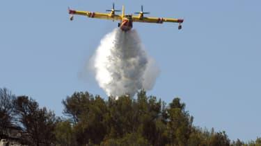 Des renforts aériens étaient attendus en fin d'après-midi pour lutter contre les feux de brousailles