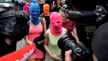 Les Pussy Riot en 2014
