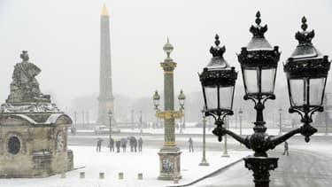 La neige devrait tomber sur l'ensemble de la région parisienne (illustration).