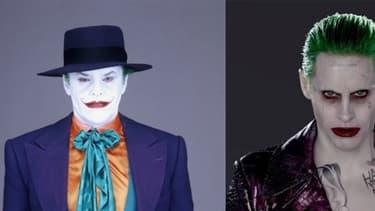 Le Joker incarné par Jack Nicholson Jared Leto et Heath Ledger.