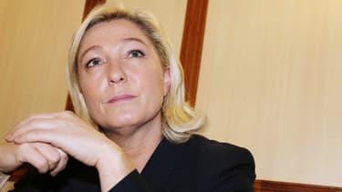 Marine Le Pen lors d'un meeting à Bergerac le 9 novembre 2013.