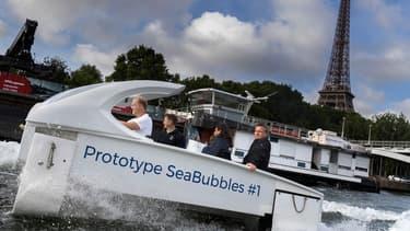 """Les essais parisiens de Sea Bubbles sont """"ajournés""""."""