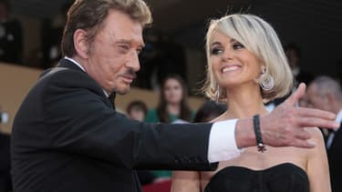 Johnny et Laeticia Hallyday à Cannes en mai 2009